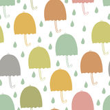 Umbrellas seamless background Royalty Free Stock Photo