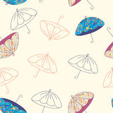 Umbrellas seamless   pattern Stock Photography