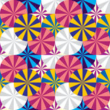 Umbrellas seamless pattern. Circles geometric seamless pattern. Vector background royalty free illustration