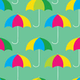 Umbrellas seamless pattern. Colorful umbrallas, seamless pattern design stock illustration