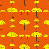 Umbrellas seamless pattern. In flat style Royalty Free Stock Image