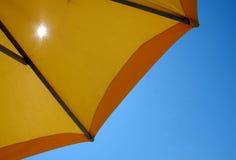 Umbrellas with seats Royalty Free Stock Photo