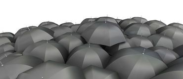 Umbrellas seen from the top Stock Photography