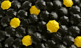 Umbrellas seen from the top Stock Images