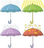 Umbrellas, set Stock Images