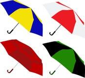 Umbrellas. Set of umbrellas. Vector illustration Royalty Free Stock Image