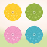 Umbrellas Set Stock Photography