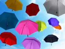 Umbrellas at the sky Stock Photo