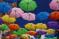 Umbrellas in the sky Stock Image