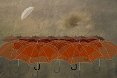 Umbrellas in the sky Royalty Free Stock Photo