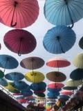 Umbrellas in Sochi royalty free stock photos