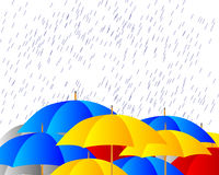 Umbrellas in the storm Royalty Free Stock Photos