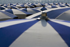 Umbrellas in the summer Royalty Free Stock Images