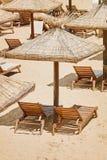 Umbrellas and Sun Loungers Stock Photos