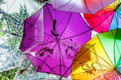 Umbrellas Texture Royalty Free Stock Photography