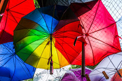 Umbrellas Texture Royalty Free Stock Photos