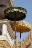 Umbrellas at an unidentified buddhist temple royalty free stock photos