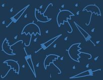 Umbrellas in vector Stock Photos