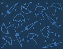 Umbrellas in vector. A lot of various umbrellas Stock Photos