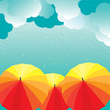 Umbrellas. Vector illustration Stock Image