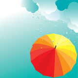 Umbrellas. Vector illustration Stock Photo