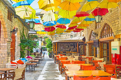 The umbrellas Royalty Free Stock Images
