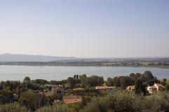 Umbria, italy. Trasimeno lake, Cortona Royalty Free Stock Photo