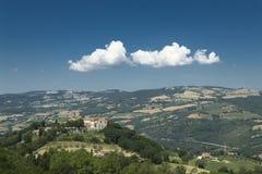 Umbria liggande (Italien) Arkivfoton