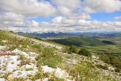 Umbria Mountain With Snow Royalty Free Stock Photo