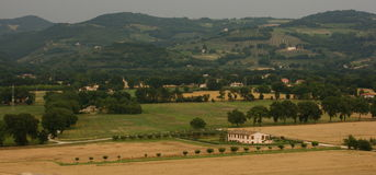Umbria plain Royalty Free Stock Photo