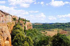 Umbria view. Views over Umbrian countryside from the hill top town of Orvieto, Italy Royalty Free Stock Photography