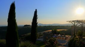 Umbria villa view Royalty Free Stock Photography