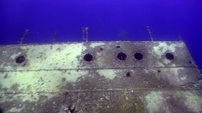 Umbria wreck in Red sea. Umbria wreck in Sudan Red sea stock video footage