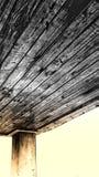 Umbrilla di legno fotografia stock