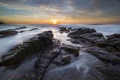 Umdloti wschód słońca Zdjęcia Royalty Free