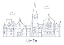 Umea, as construções as mais famosas da cidade Foto de Stock