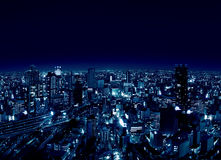 Umeda - ciudad de Osaka de Night Foto de archivo