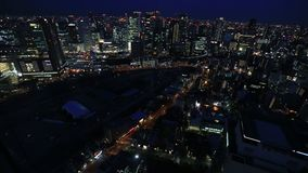 Umeda Sky Building rooftop stock video