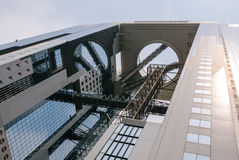 Umeda Sky Building. Umeda Sky Building in Shin Umeda City, northwest of JR Osaka Station. It consists of two 40-storey buildings connected with Floating Garden Royalty Free Stock Photography