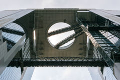 Umeda Sky Building. Umeda Sky Building in Shin Umeda City, northwest of JR Osaka Station. It consists of two 40-storey buildings connected with Floating Garden Royalty Free Stock Image
