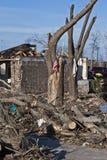 Umfangreiche Zerstörung nach Tornado Lizenzfreie Stockfotografie