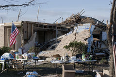 Umfangreiche Zerstörung nach Tornado Lizenzfreie Stockfotos