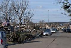 Umfangreiche Zerstörung nach Tornado Lizenzfreie Stockbilder
