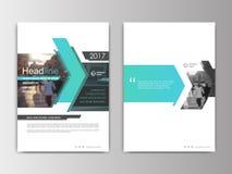 Umfassen Sie annnual Bericht des Designs, Flieger, Darstellung, Broschüre Lizenzfreie Abbildung