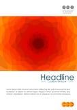 Umfassen Sie Design in A4 mit gewellten orange abstrakten Linien Lizenzfreies Stockbild
