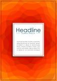 Umfassen Sie Design in A4 mit gewellten orange abstrakten Linien Lizenzfreie Stockfotografie