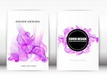 Umfassen Sie Design-Schablonen-Veröffentlichungs-Linien wie purpurroter Rauch auf einem w Lizenzfreies Stockbild