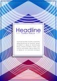 Umfassen Sie Designschablone mit futuristischen Kreisen als Radiowelle und Lizenzfreie Stockfotos