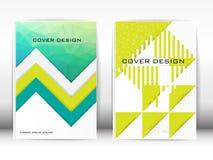 Umfassen Sie dreieckige Form des Design-Schablonen-Veröffentlichungs-Polygons und g Lizenzfreie Stockfotos