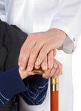 Geriatrie und Altenpflege Lizenzfreies Stockbild
